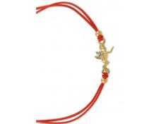 Гривна с червен конец и златно ангелче